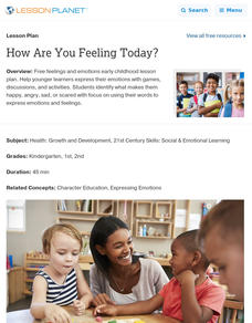 How Are You Feeling Today? Lesson Plan