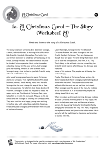 A Christmas Carol - The Story Assessment