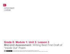 "Mid-Unit Assessment: Writing Best First Draft of ""Inside Out"" Poem Lesson Plan"