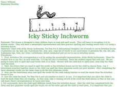 Icky Sticky Inchworm Lesson Plan