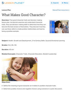 What Makes Good Character? Lesson Plan