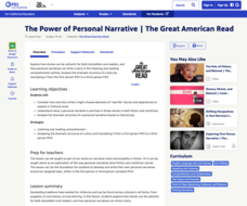The Power of Personal Narrative Lesson Plan