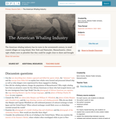The American Whaling Industry Activities & Project
