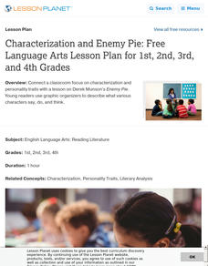 Characterization and Enemy Pie Lesson Plan