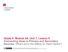 Connecting Ideas in Primary and Secondary Sources: What Led to the Attack on Pearl Harbor? Lesson Plan