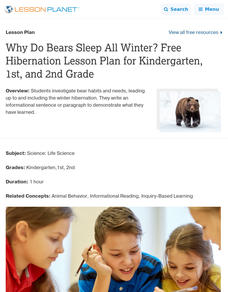 Why Do Bears Sleep All Winter? Lesson Plan