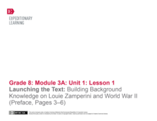 EngageNY Grade 8 ELA: Module 3a, Unit 1:  Building Background Knowledge: Varying Perspectives on World War II