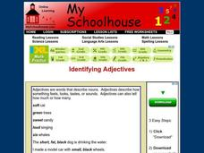 Identifying Adjectives Interactive