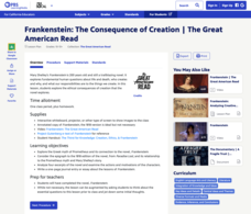 Frankenstein: The Consequence of Creation Lesson Plan
