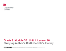 Studying Author's Craft: Carlotta's Journey Lesson Plan