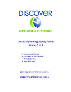Arts and Engineering Activity Packet: Grades 3-5 Activities & Project