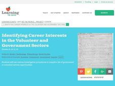 Identifying Career Interests in the Volunteer and Government Sectors Lesson Plan
