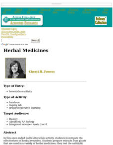 Herbal Medicines Lesson Plan