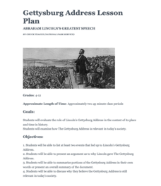 Gettysburg Address: Abraham Lincoln's Greatest Speech Lesson Plan
