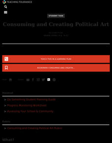 Consuming and Creating Political Art Activities & Project