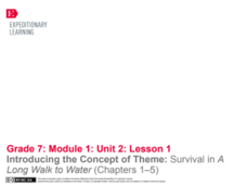 EngageNY Grade 7 ELA Module 1, Unit 2: Case Study: Survival in Sudan