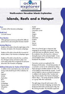 Islands, Reefs, and a Hotspot Lesson Plan