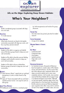 Who's Your Neighbor? Lesson Plan