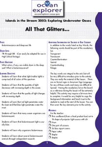 All That Glitters... Lesson Plan