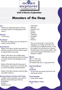 Monsters of the Deep Lesson Plan