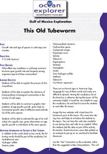 This Old Tubeworm Lesson Plan