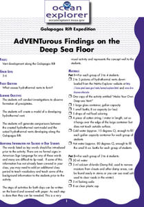 AdVENTurous Findings on the Deep Sea Floor Lesson Plan