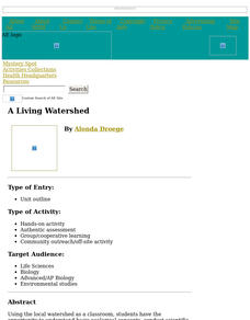 A Living Watershed Lesson Plan