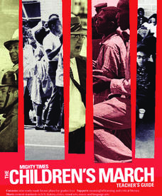 Children's March Teacher's Guide, Activity 1 Lesson Plan
