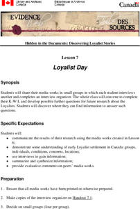 Loyalist Day Lesson Plan