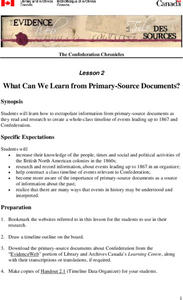 What Can We Learn from Primary-Source Documents? Lesson 2 Lesson Plan
