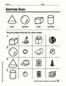 Identifying Solids Worksheet