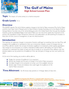The Gulf of Maine Lesson Plan