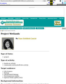 Project Wetlands Lesson Plan