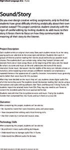 Sound/Story Lesson Plan