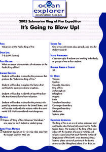 It's Going to Blow Up! Lesson Plan