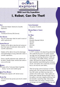 I, Robot, Can Do That! Lesson Plan