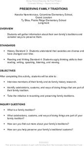 Preserving Family Traditions Lesson Plan
