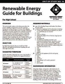 Renewable Energy Guide for Buildings  Lesson Plan