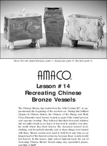 Recreating Chinese Bronze Vessels Lesson Plan