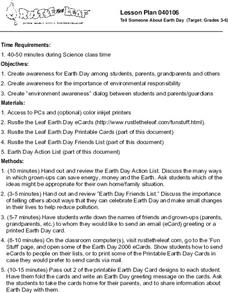 Tell Someone About Earth Day Lesson Plan