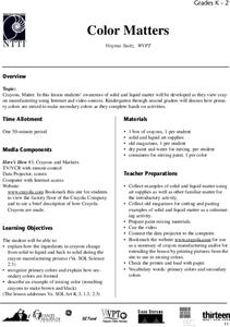 Color Matters Lesson Plan