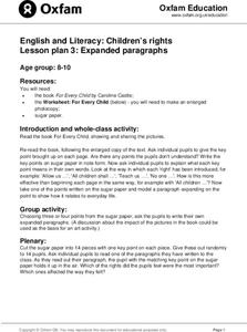 Children's Rights: Expanded Paragraphs Lesson Plan