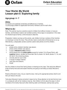 Your World, My World: Exploring Family Lesson Plan