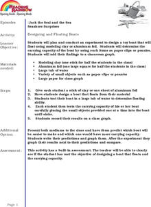 Designing and Floating Boats Lesson Plan