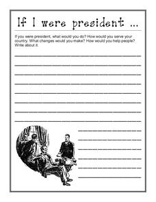 If I Were President Worksheet