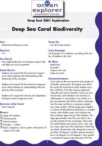Deep Sea Coral Biodiversity Lesson Plan