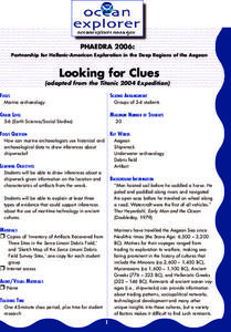 Looking for Clues Lesson Plan