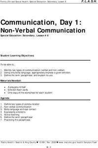 Non-Verbal Communication Lesson Plan