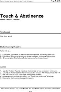 Touch and Abstinence Lesson Plan