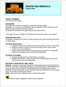 Identifying Minerals Lesson Plan